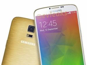 Samsung Galaxy F metal body golden color