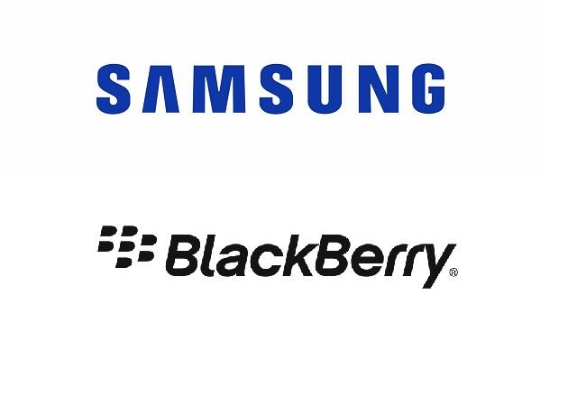 Samsung and BlackBerry logo
